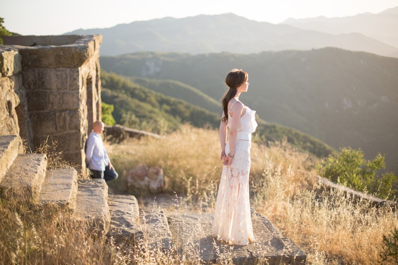 Santa Barbara engagement session at sunset