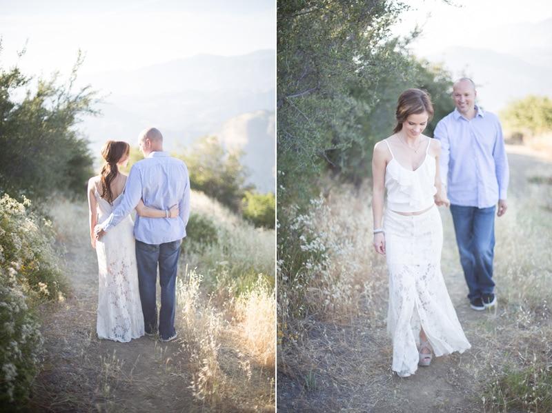 A couple's Santa Barbara engagement session at Knapps Castle