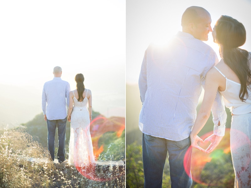 Sunset engagement photos at Knapps Castle in Santa Barbara