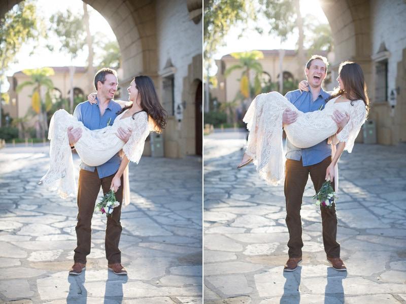 Bride and groom portrait during a Modern Santa Barbara elopement.