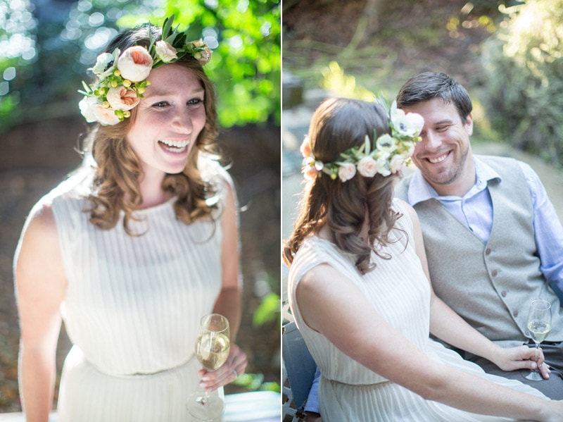 Amazing couple laughing during their Intimate Villa Engagement.