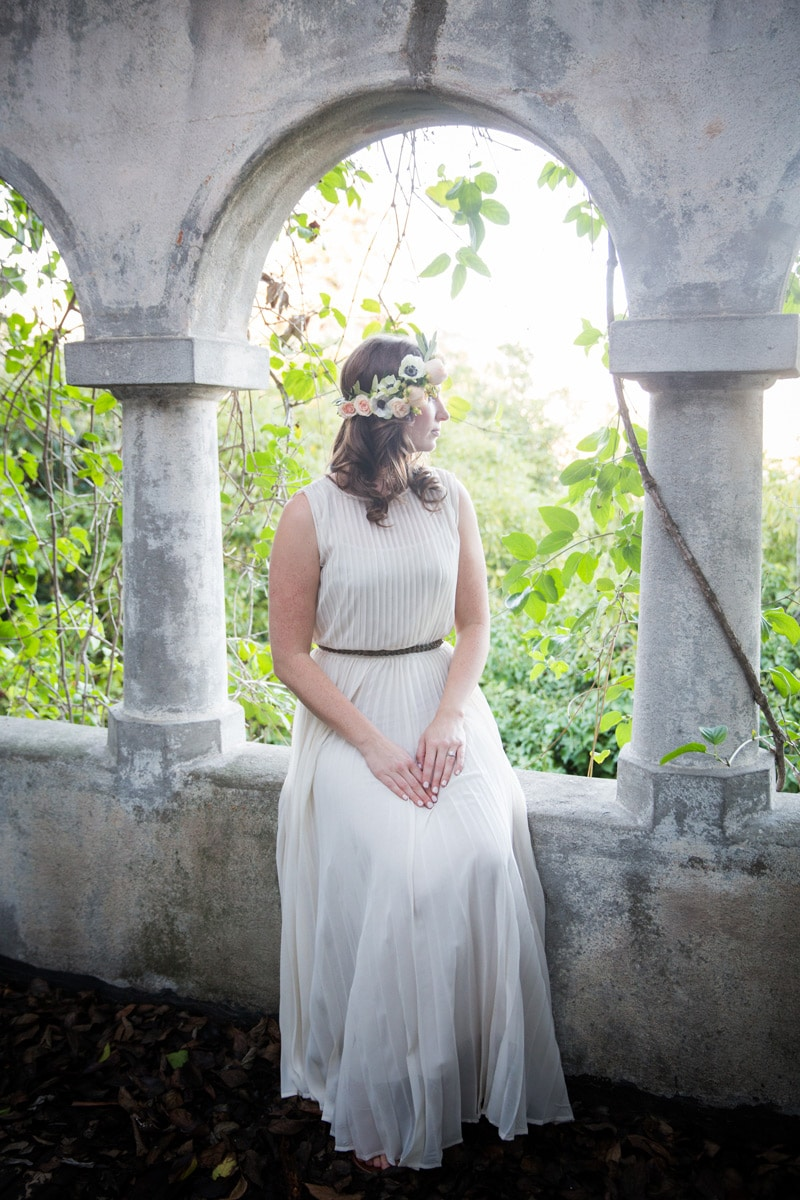 Bride to be portrait at a private home on the Mesa in Santa Barbara.