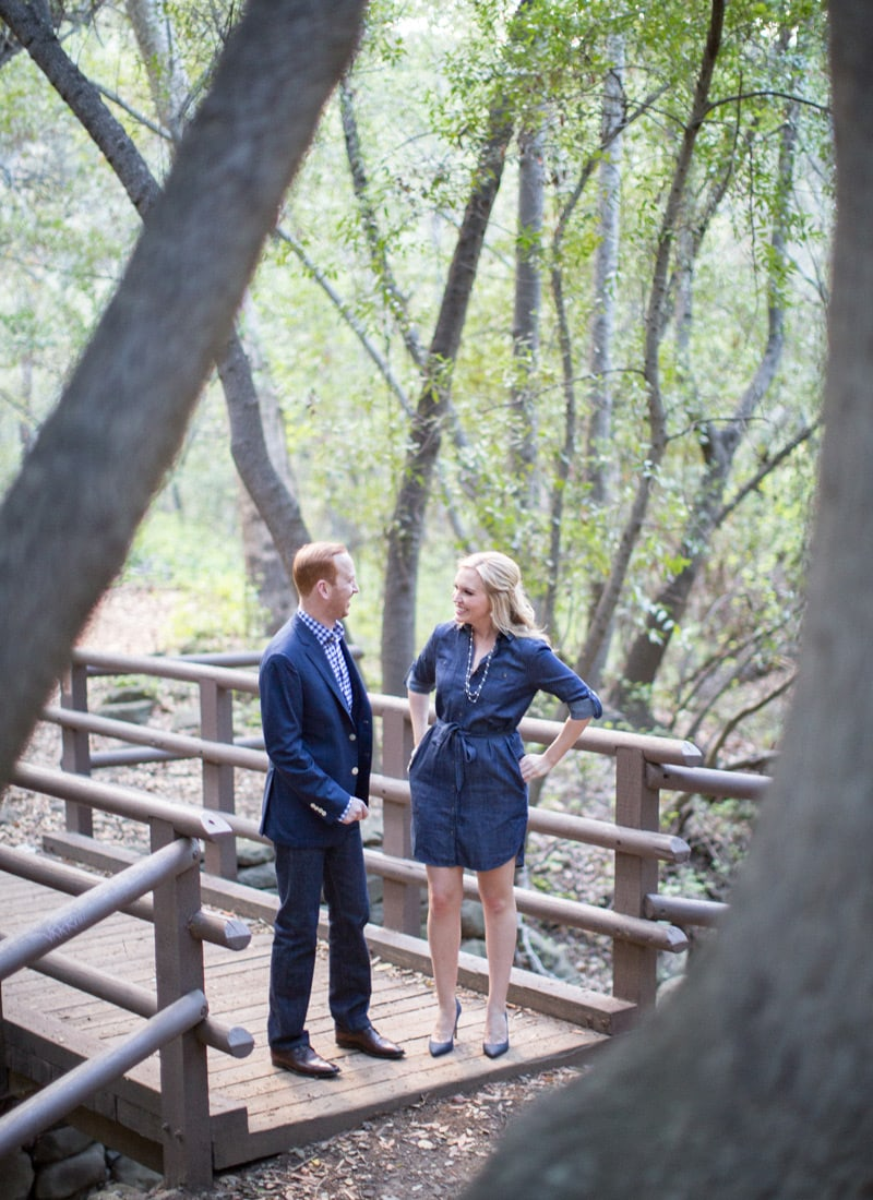 Couple on the bridge at Nojoqui Falls.