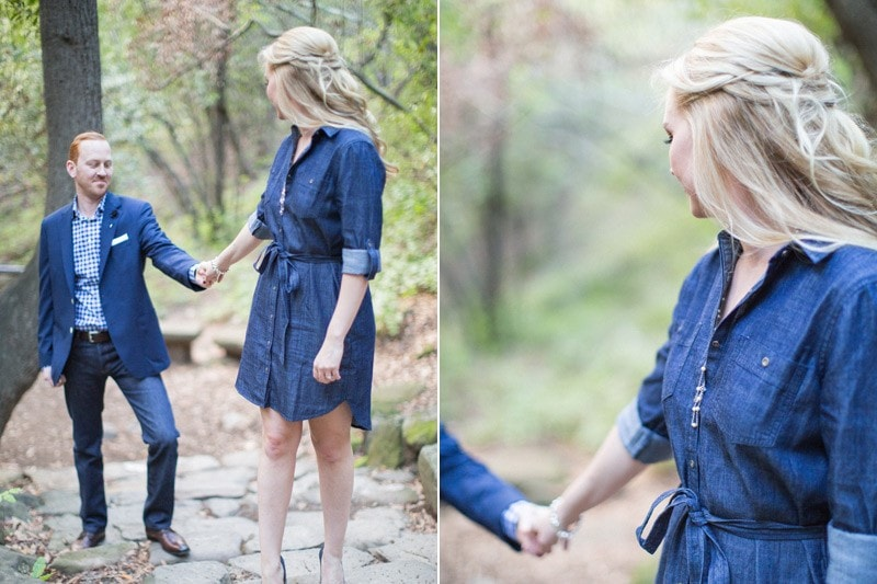 Engagement session on the Nojoqui Falls trail.