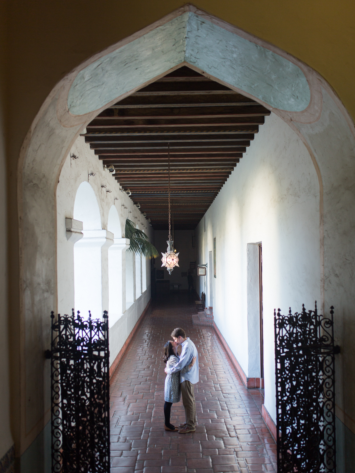 Santa Barbara courthouse engagement session