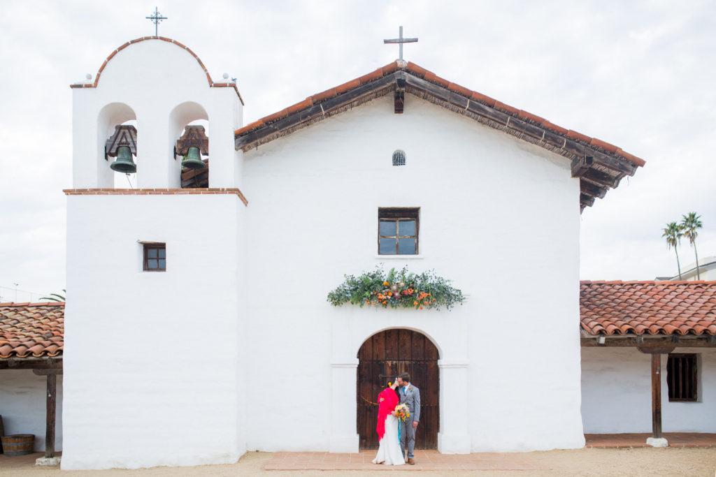 Bride & Groom just after their El Presidio Wedding