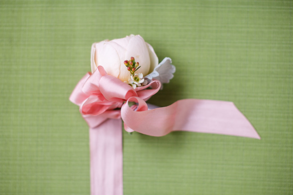 Beautiful corsage by Otis & Pearl