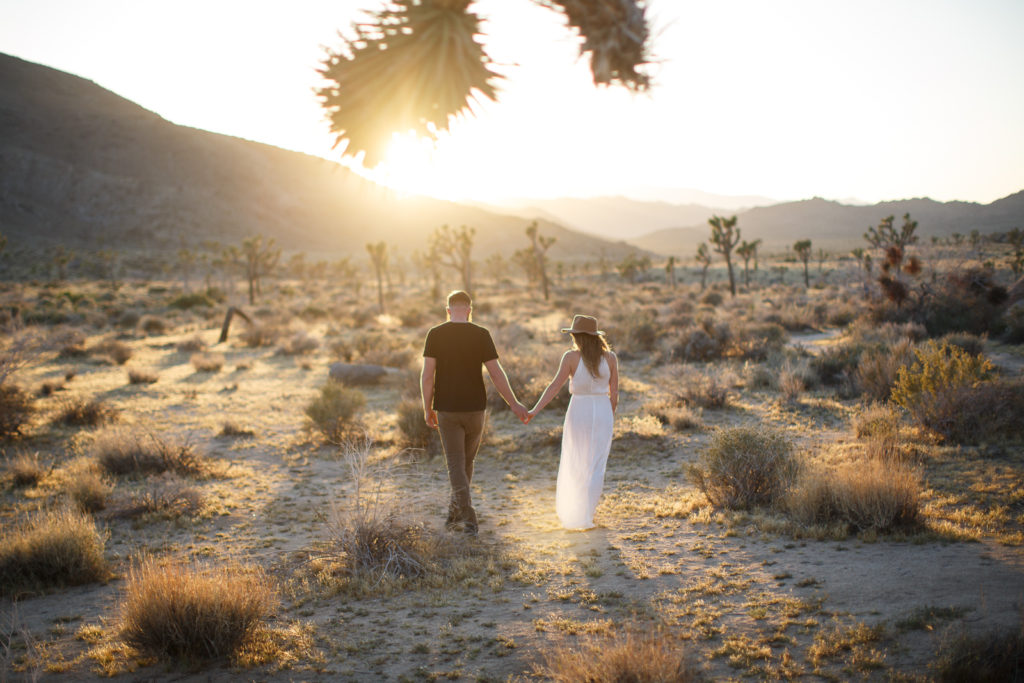 Joshua Tree engagement sessions | Hip, airy boho vibes in Joshua Tree
