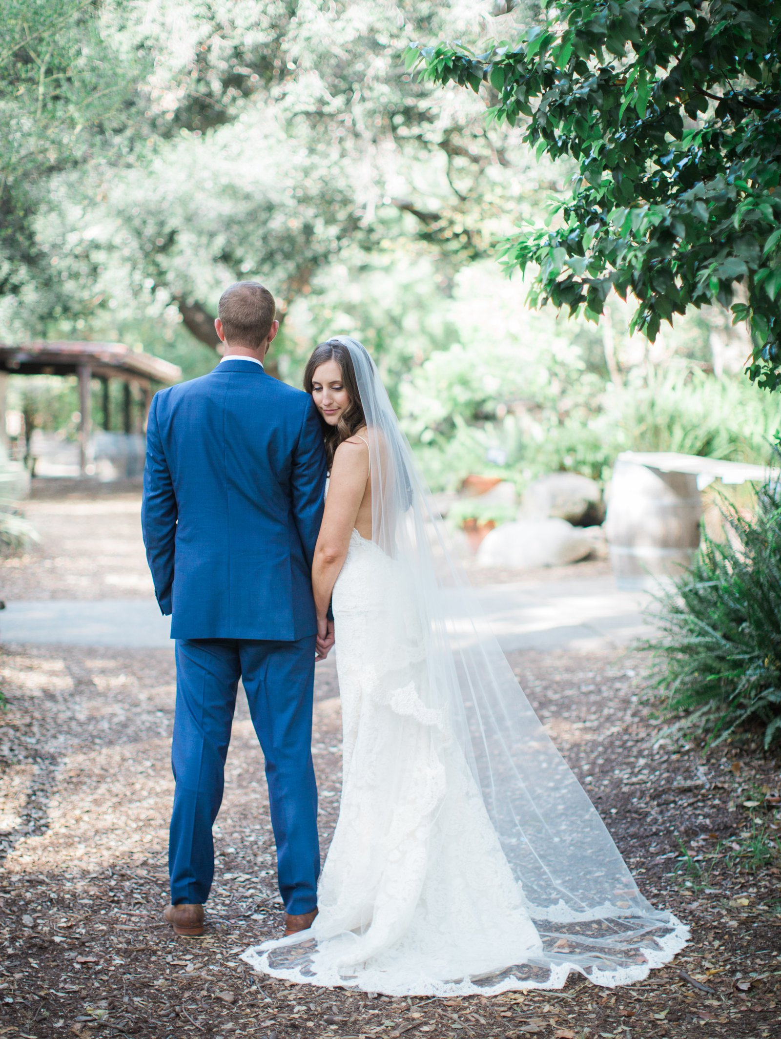 Newlyweds after the ceremony at The Santa Barbara museum of Natural history