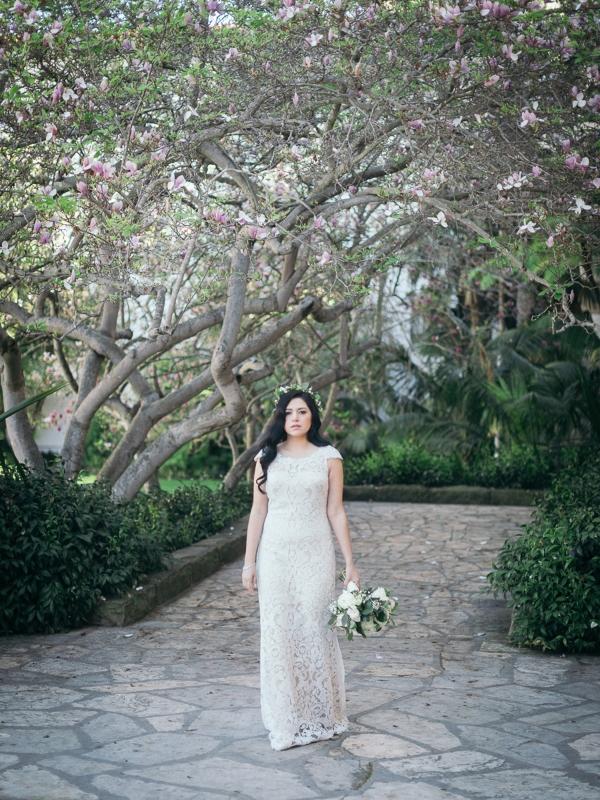 Bride at her Elegant Courthouse Elopement Santa Barbara.