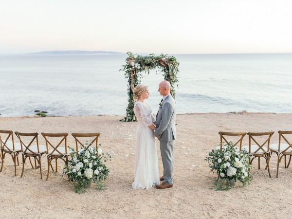 intimate Avila Beach Lighthouse Wedding