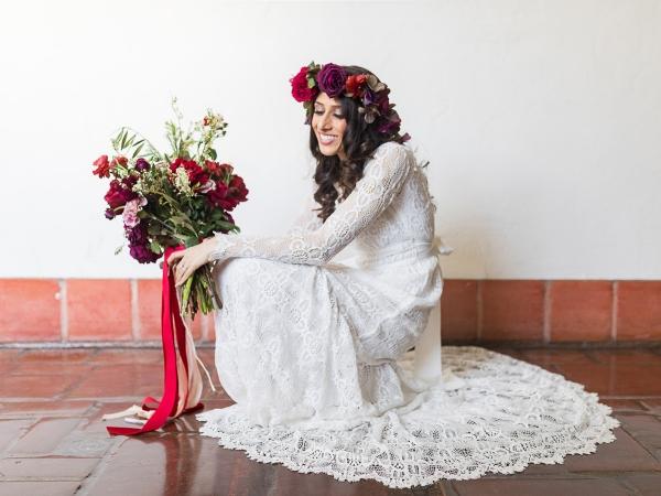 Tour of Santa Barbara Elopement - Bride & Florals